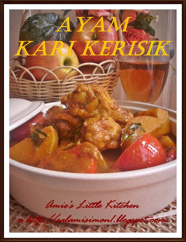 amies  kitchen ayam kari kerisik yatie memories fridge magnet  bicara kak noor Resepi Kari Daging Melaka Enak dan Mudah