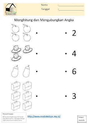 Menghitung dan Menghubungkan Angka Bagian 3