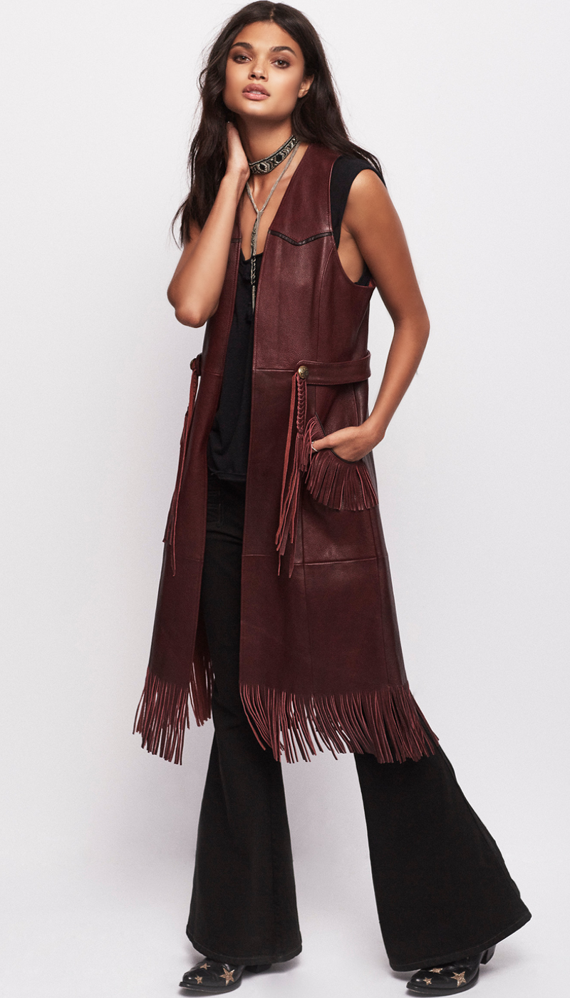 Free People Riley Fringe Vest