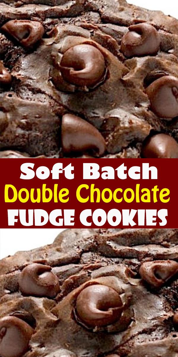 Soft Batch Double Chocolate Fudge Cookies #SoftBatch #Double #Chocolate #Fudge #Cookies #SoftBatchDoubleChocolateFudgeCookies