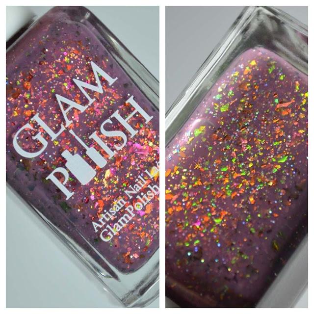 mauve flakie nail polish