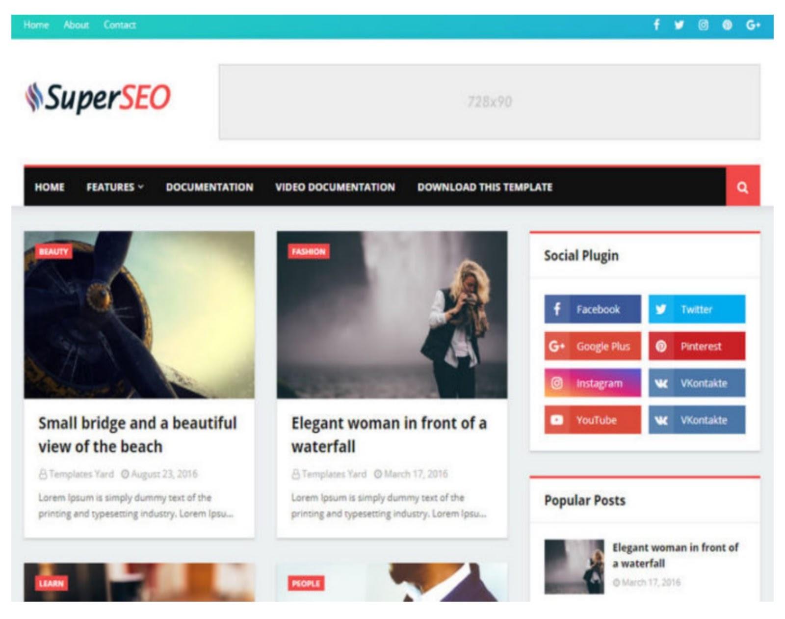 Super SEO Optimized Blogger Template