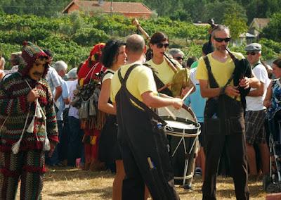 Músicos na Festa do Caldo de Quintandona