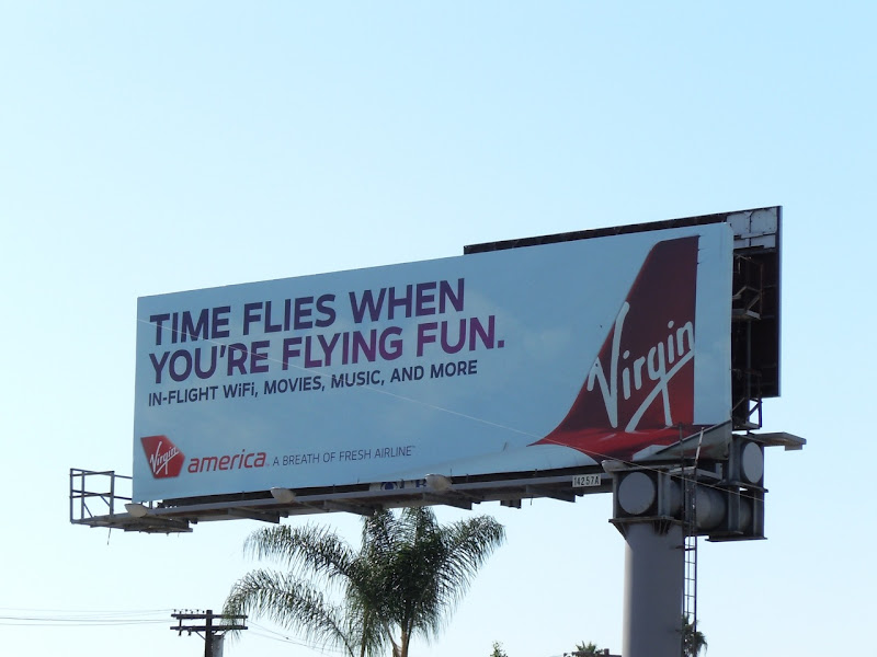 Virgin America Time Flies billboard