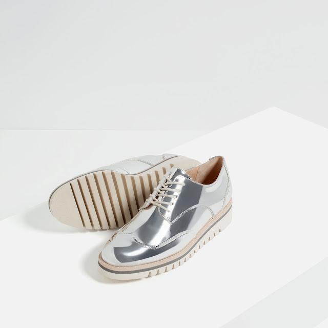 Zapatos Zapatos Plateados Plateados Zara SqSX8Yw