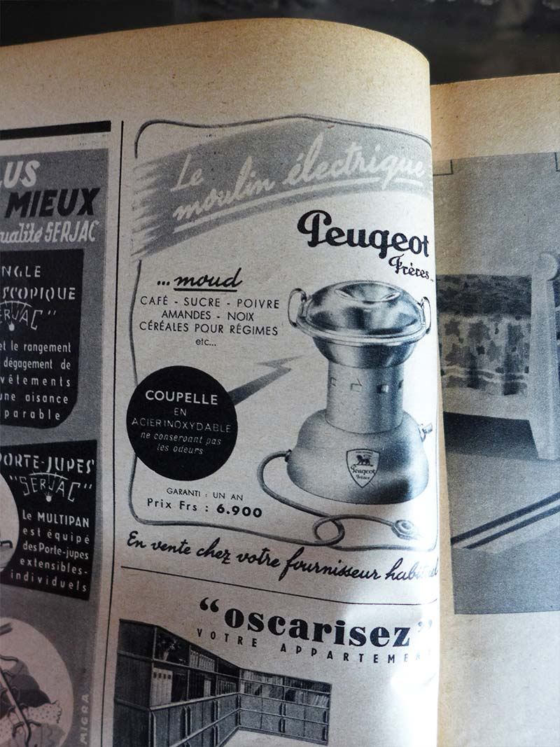 Le moulin électrique Peugeot