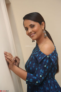 Anchor Anasuya in a Blue Gown at Jai Lava Kusa Trailer Launch ~ Exclusive Celebrities Galleries 051