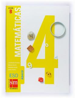 Libro Matemáticas 4º ESO SM Opción B Proyecto Ábaco