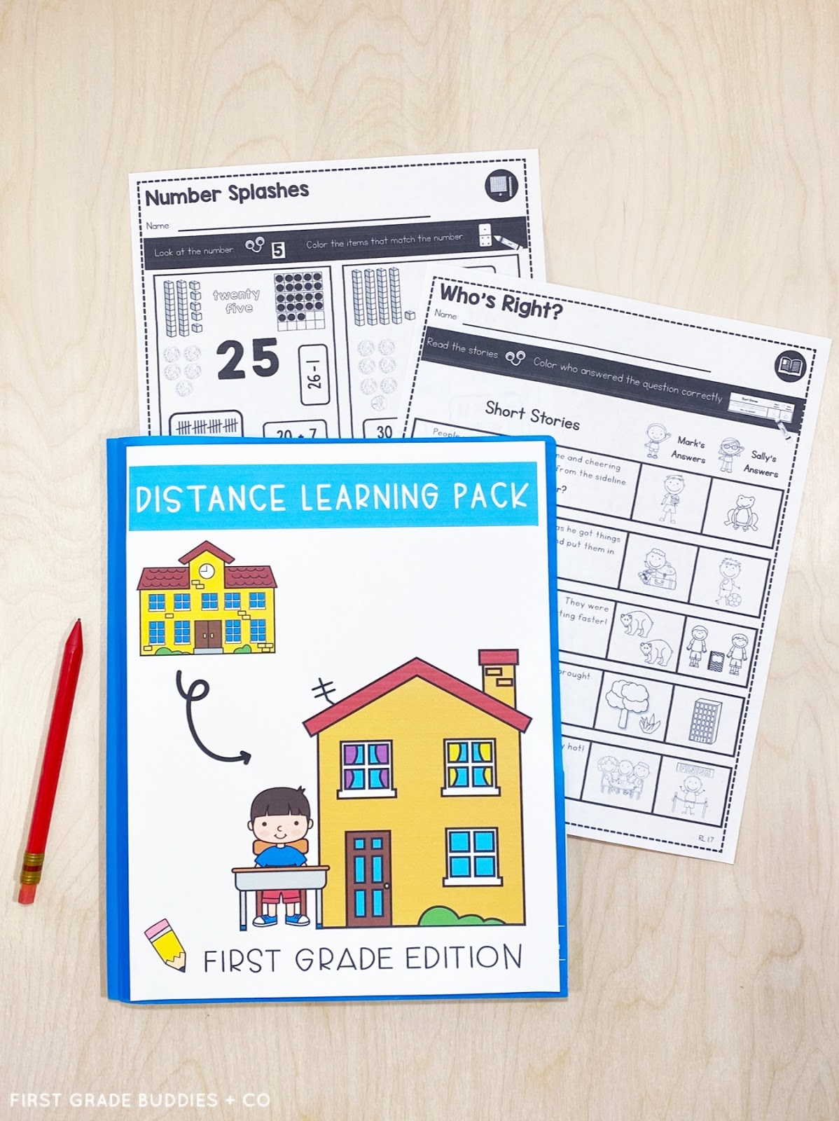 small resolution of Resources for At-Home and Distance Learning   First Grade Buddies