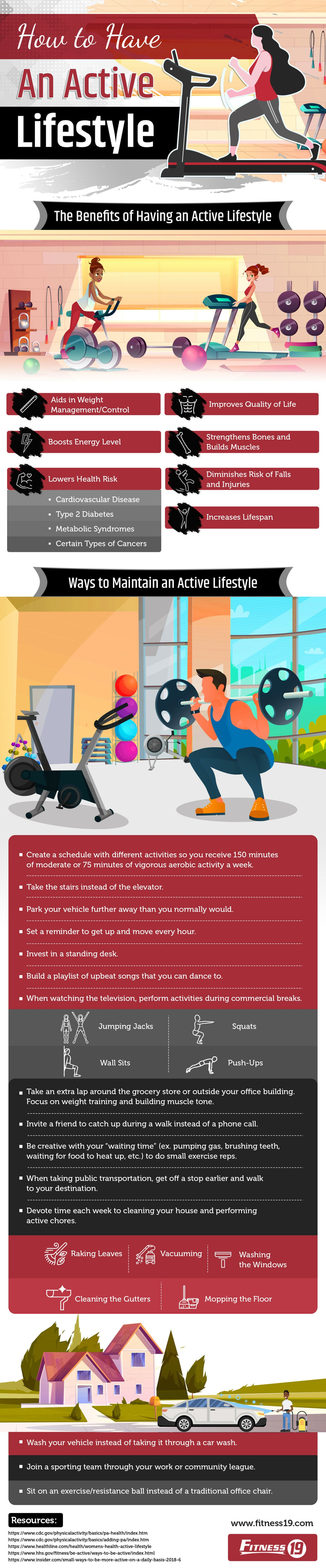 How to Have an Active Lifestyle #infographic