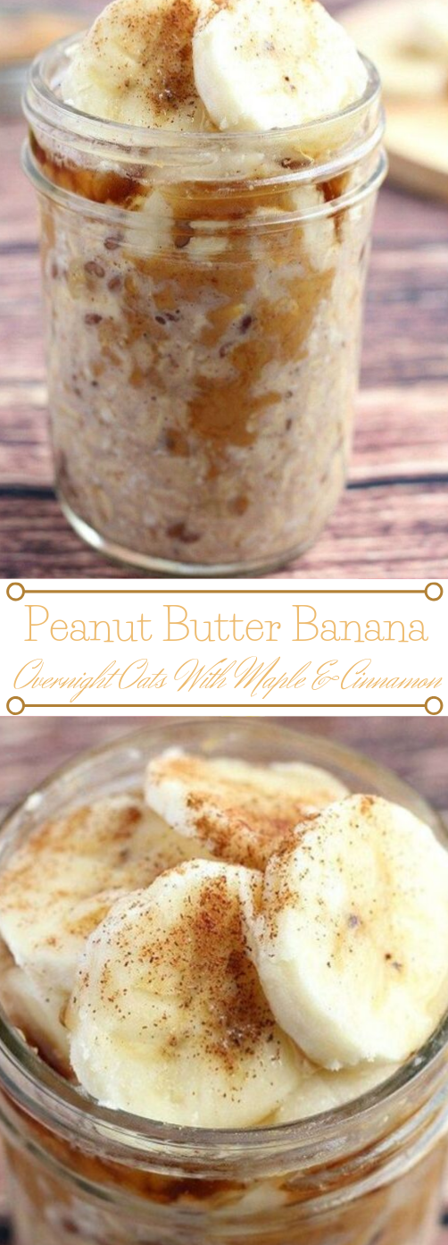 PEANUT BUTTER AND BANANA OVERNIGHT OATS #desserts #cakes #banana #peanut #butter