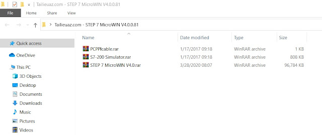 STEP 7 MicroWIN V4.0 Full - Windows 10 64bit