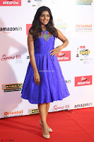 Eesha in Cute Blue Sleevelss Short Frock at Mirchi Music Awards South 2017 ~  Exclusive Celebrities Galleries 008.JPG