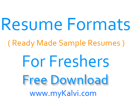Attractive Resume Format For Freshers Free Download Resume Pdf