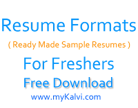 resume format,fresher,jobs,sample resume format