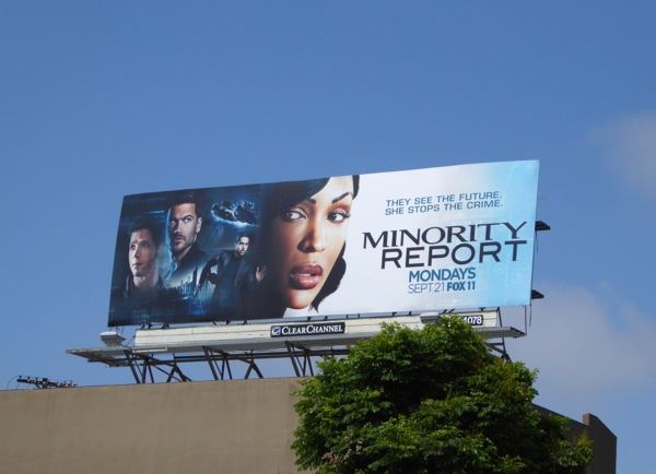 Minority Report series premiere billboard
