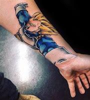 tatuaje vegeta principe de los saijayin antebrazo