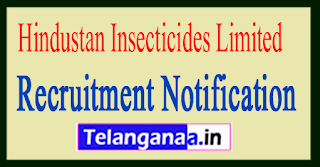 Hindustan Insecticides Limited HIL Recruitment Notification 2017