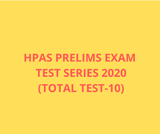 HPAS PRE Exam Test Series 2020(Total test -10)