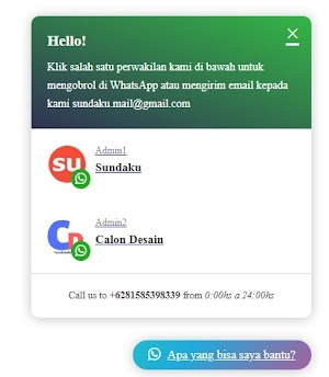 Membuat Tombol Chat WhatsApp Di Blogger