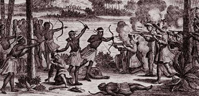 Gambar ilustrasi Perlawanan Kakiali terhadap VOC