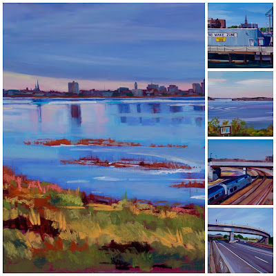 Painting Portland group show and book signing Yarmouth Frame & Gallery 10.27.18