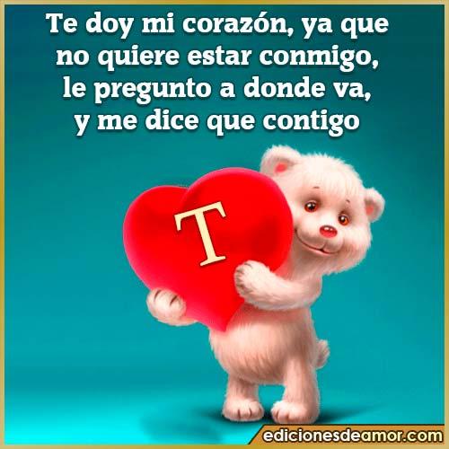 te doy mi corazón T