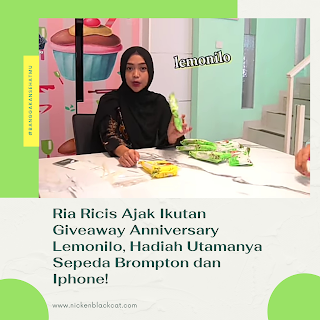 Ria Ricis ajak ikutan giveaway Lemonilo