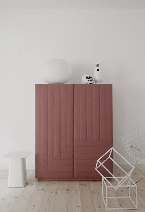 Interior Trend 2015 - Cabinet painted in marsala