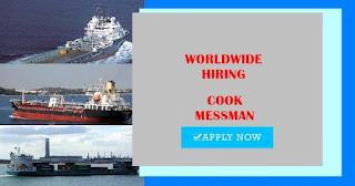 Hiring Steward Messman For General Cargo Vessel