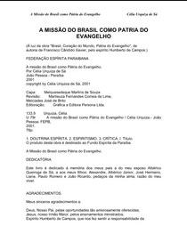 A Missão do Brasil como Pátria do Evangelho (Célia Urquiza de Sá) pdf