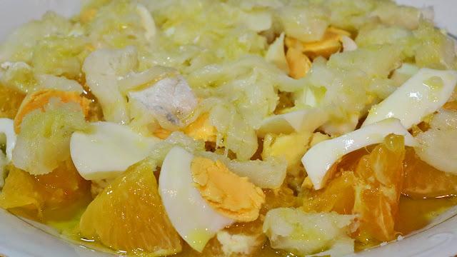 Ensalada de naranja y bacalao