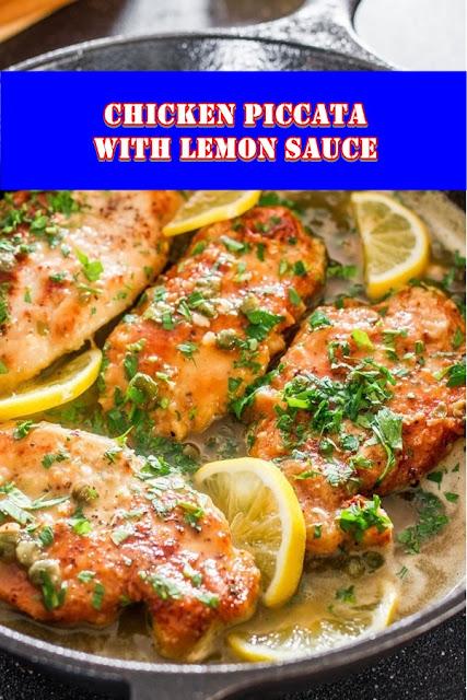 #Chicken #Piccata #with #Lemon #Sauce