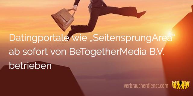 """Titel: Datingportale wie """"SeitensprungArea"""" ab sofort von BeTogetherMedia B.V. betrieben"""