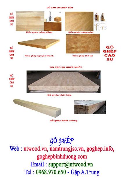 gỗ cao su ghép