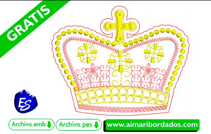 Bordado de Corona Princesa Descargar Gratis