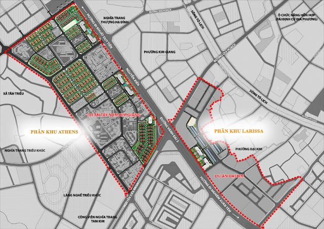 Vị trí 2 phân khu dự án Athena Fulland