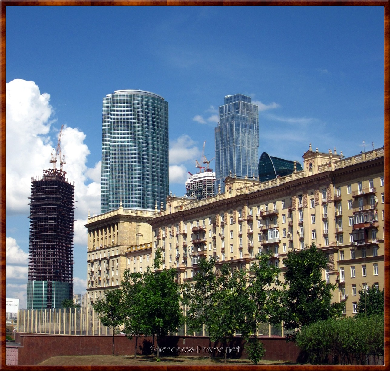 View on Moscow International Business Center