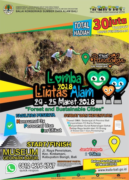 Lomba Lintas Alam 2018 - Balai KSDA Bali
