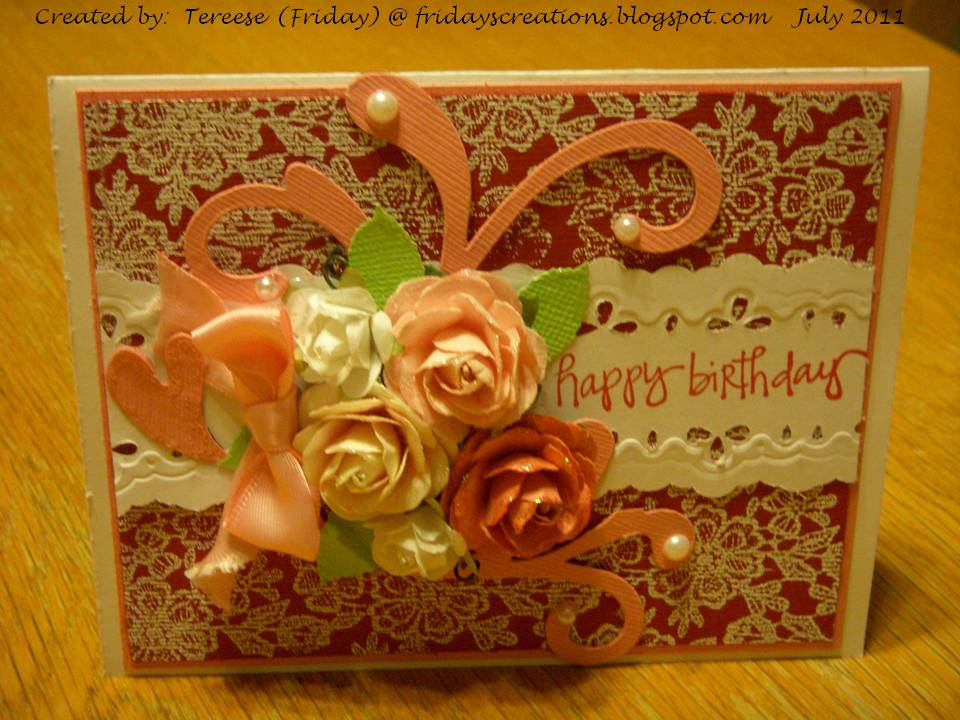 Fridays Creations Fancy Birthday Card