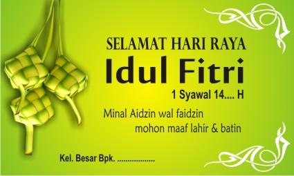 Format Ucapan Selamat Hari Raya Idul Fitri Closing D