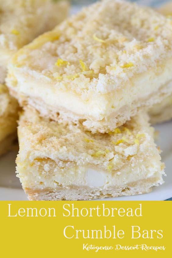 Lemon Shortbread Crumble Bars