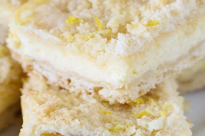 Lemon Shortbread Crumble Bars