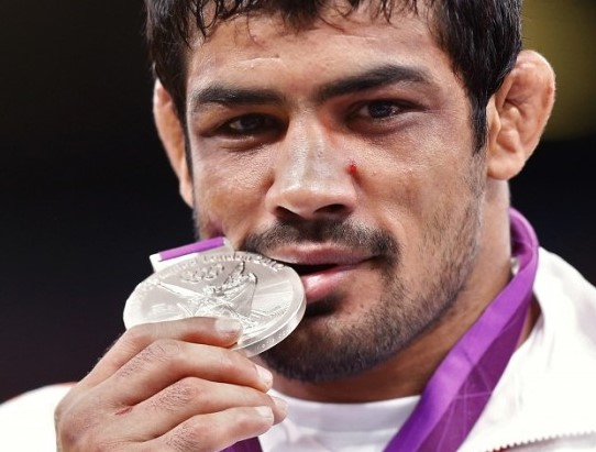Sushil kumar from India in Summer Olympics