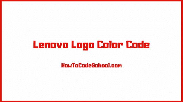 Lenovo Logo Color Code