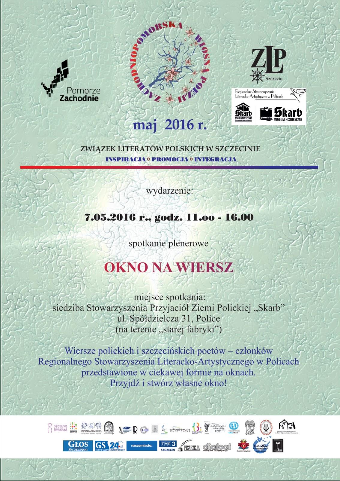 Zachodniopomorska Wiosna Poezji Okno Na Wiersz