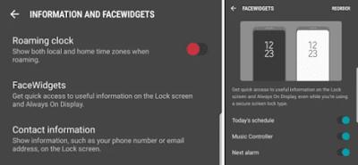 Face Widgets S8