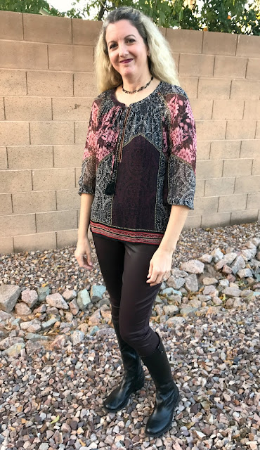 Daniel Rainn Sealy Tassel Tie Blouse - Stitch Fix #28 Review - December 2016