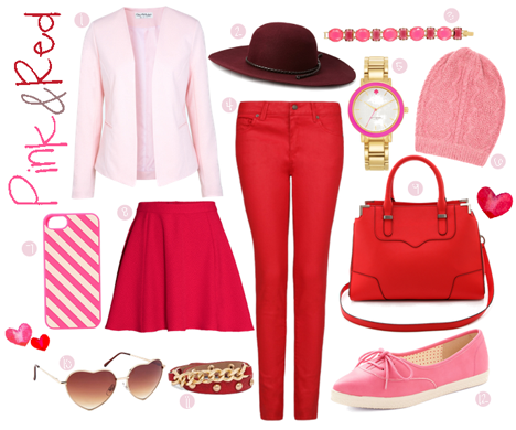 pink and red