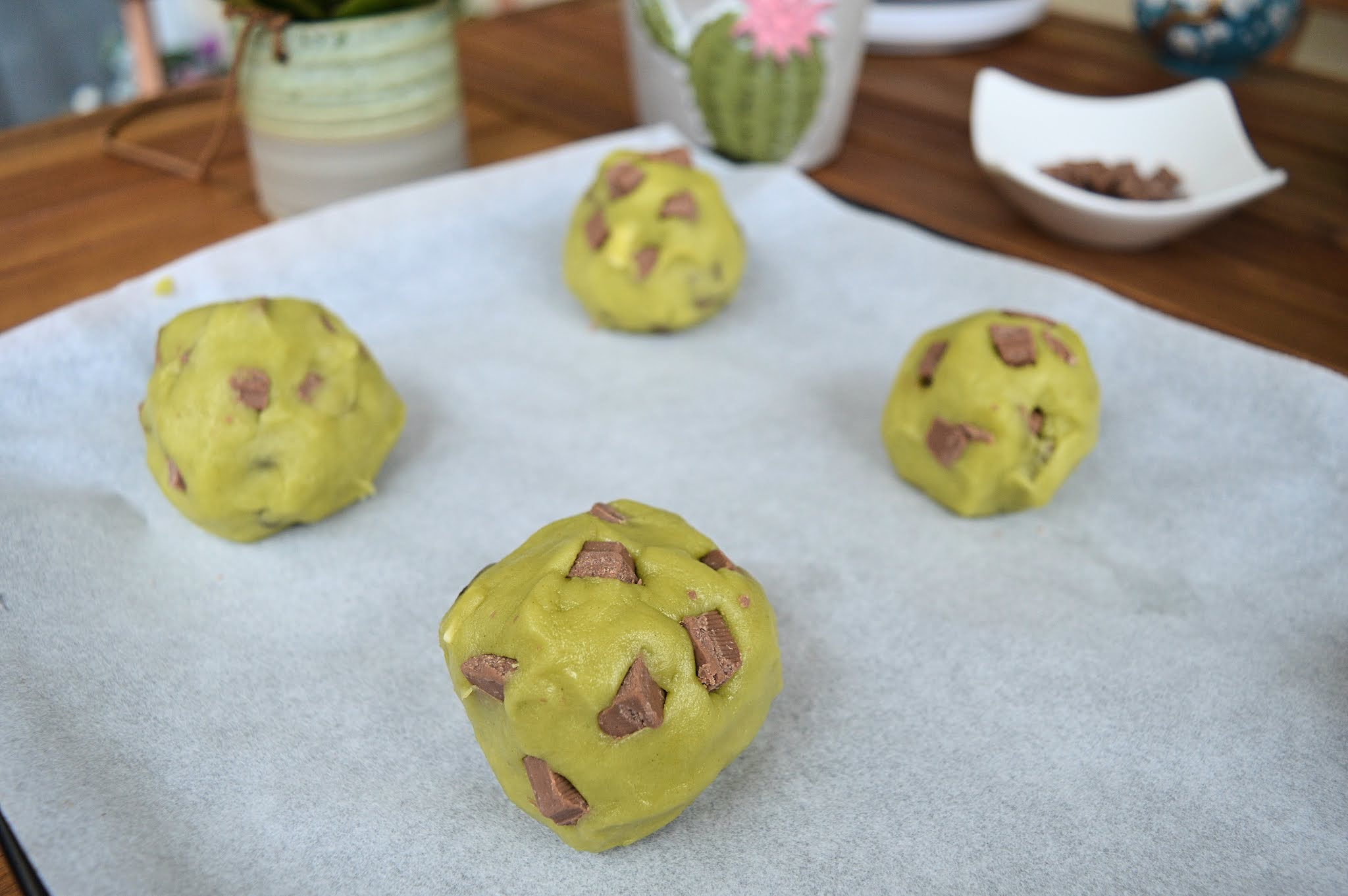 Boules cookies matcha zoom